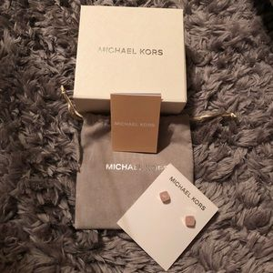 Michael Kors Pink Stone Earrings
